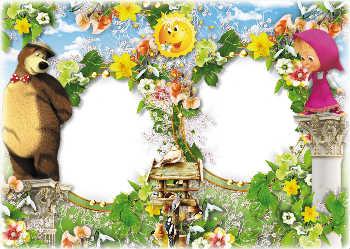 Molduras Para Fotos Gratis Online Categoria Masha E O Urso